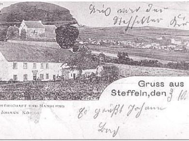 """""""Gruß aus Steffeln"""" vom 03.10.1909."""